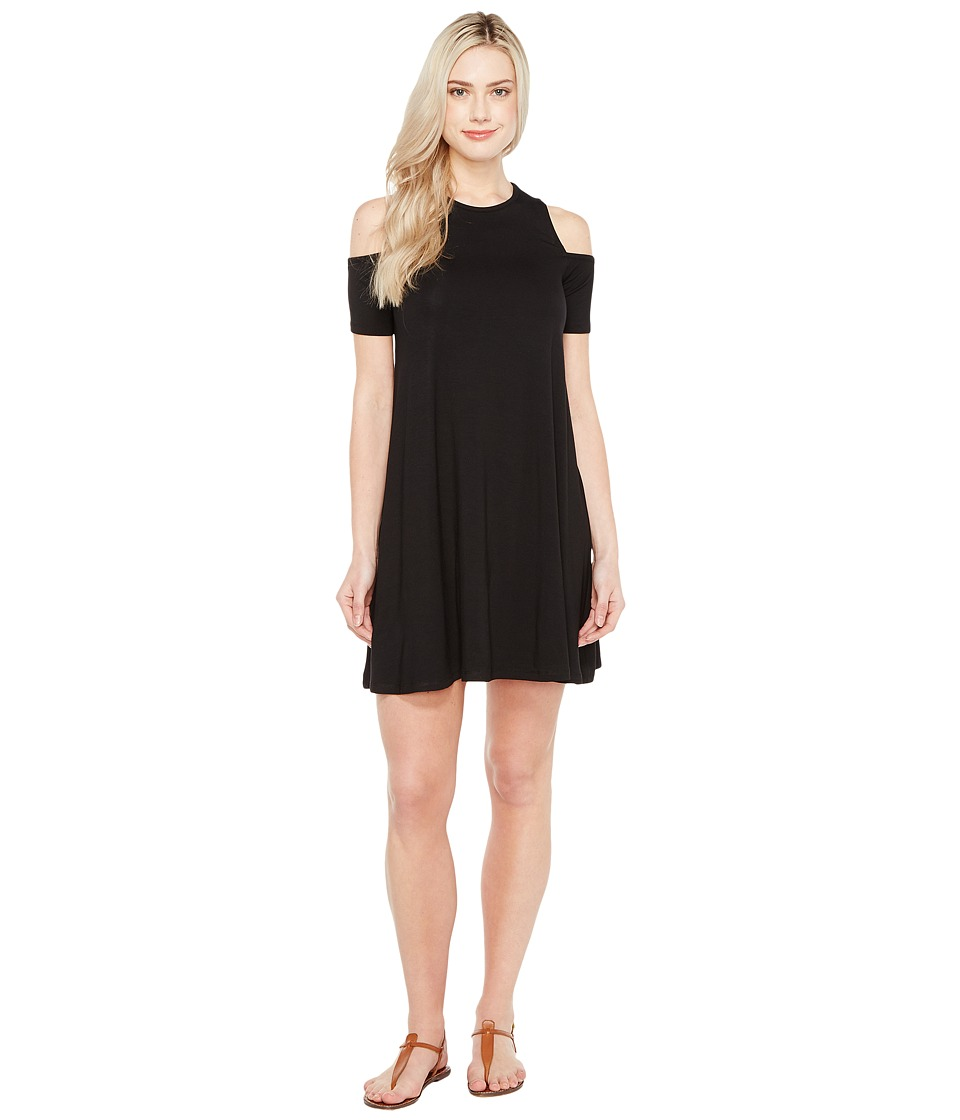 Culture Phit Aleta Cold Shoulder Dress (Black) Women