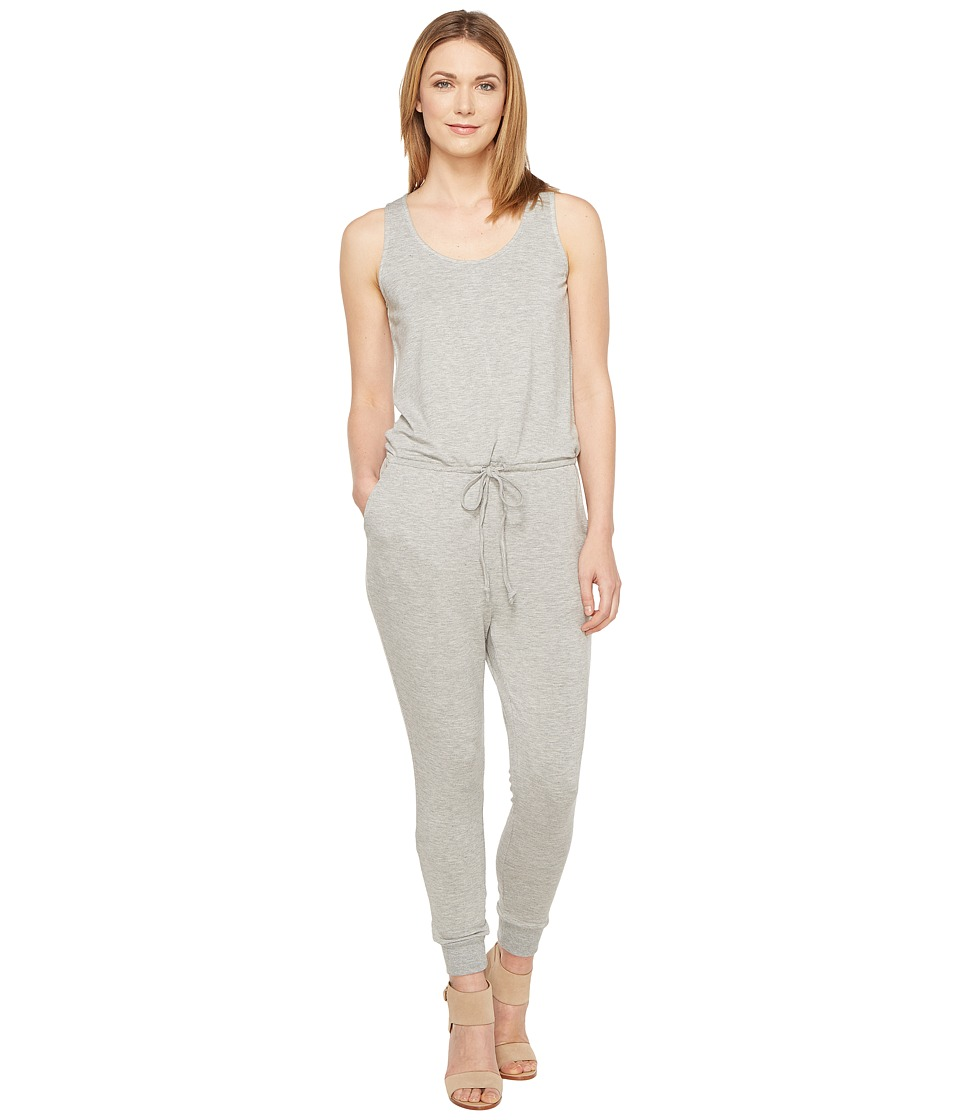 Culture Phit - Madison Luxe French Terry Sleeveless Jumper (Heather Grey) Women's Jumpsuit & Rompers One Piece