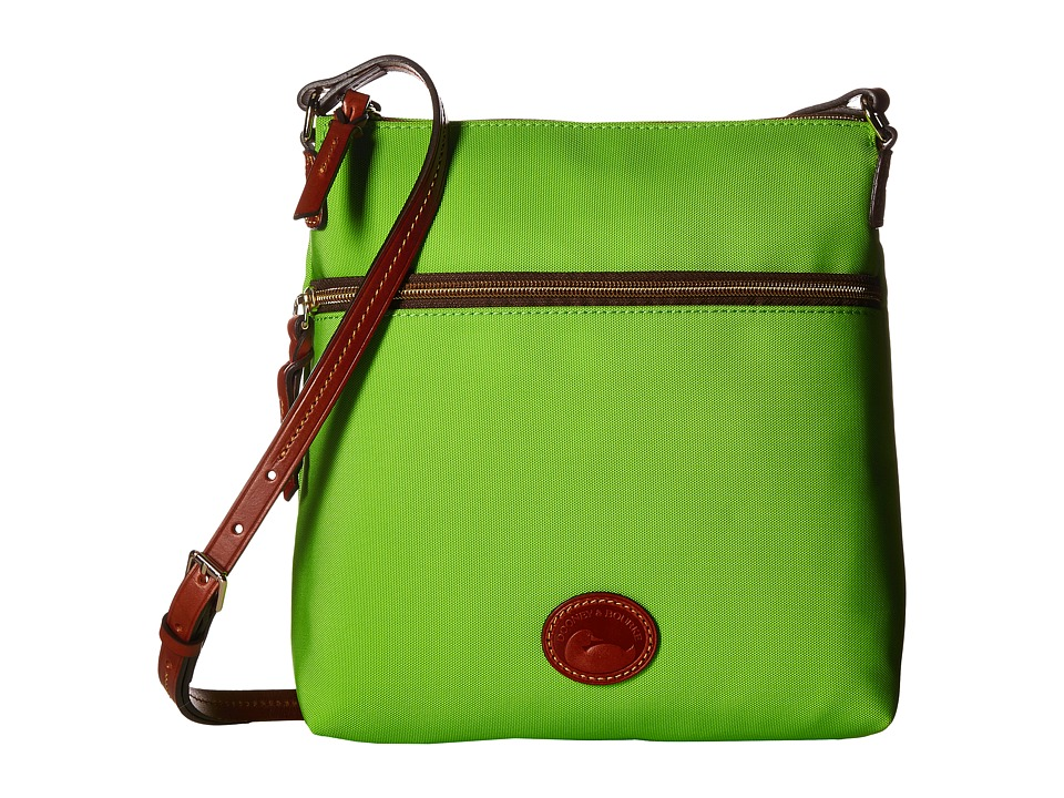 Dooney & Bourke - Nylon Crossbody (Apple Green/Tan Trim) Cross Body Handbags