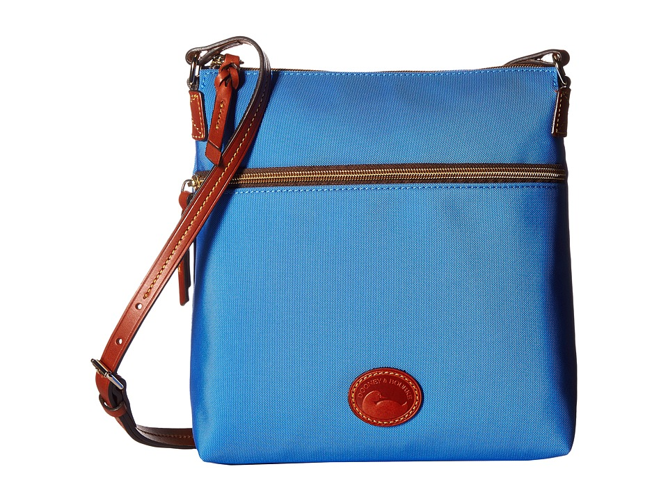 Dooney & Bourke - Nylon Crossbody (French Blue/Tan Trim) Cross Body Handbags