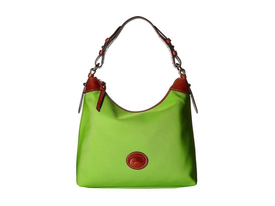 Dooney & Bourke - Nylon Large Erica (Apple Green/Tan Trim) Hobo Handbags