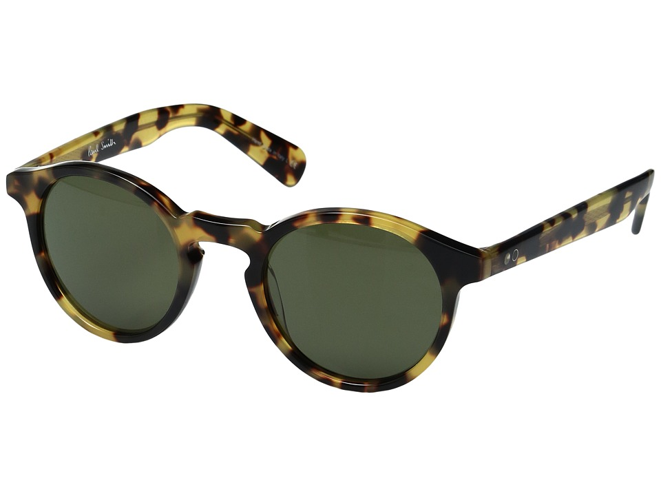 Paul Smith - Keston Sun Custom (Spotty Tortoise/Custom G15 Mineral Glass) Fashion Sunglasses