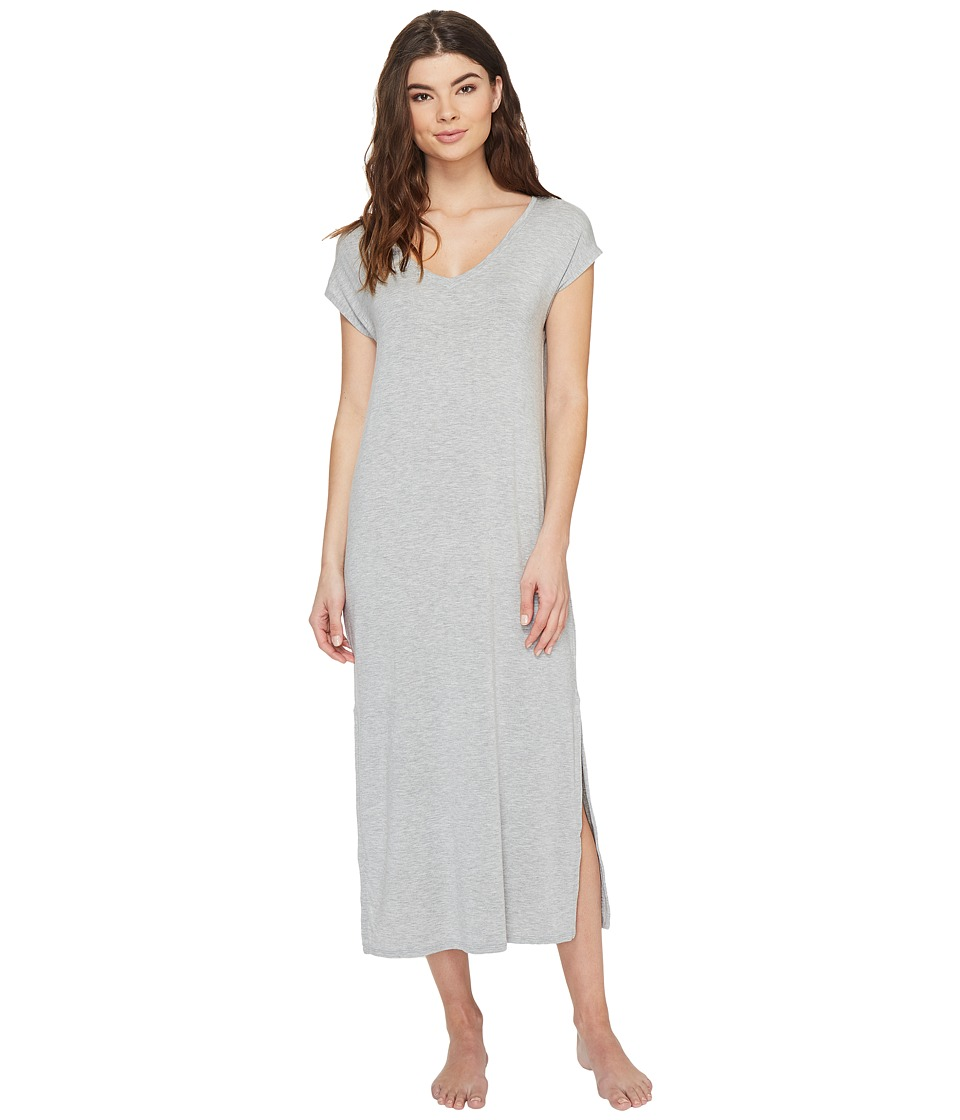 P.J. Salvage - Modal Short Sleeve Gown (Grey) Women's Pajama