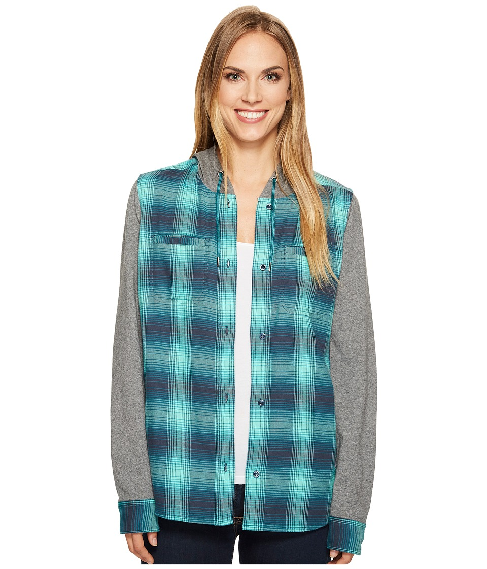 The North Face - Campground Shacket (Bermuda Green Plaid) Women's Sweatshirt