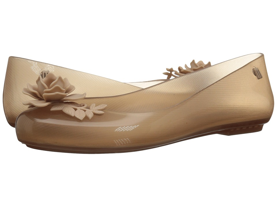 Melissa Shoes - Space Love Flower + AH (Clear Beige) Women's Shoes