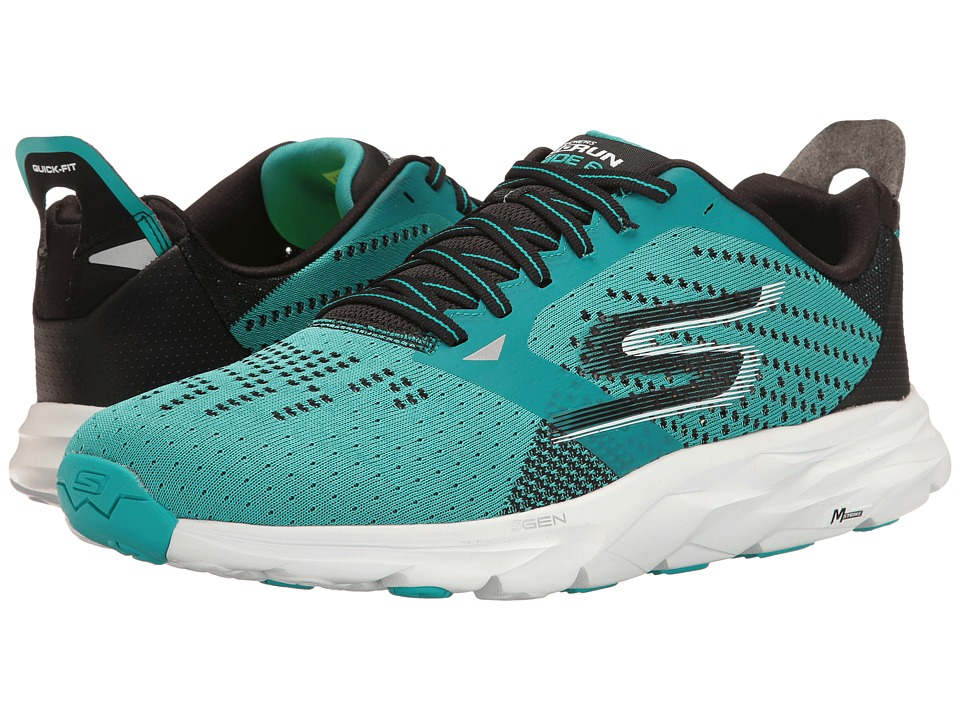 SKECHERS - Go Run Ride 6 (Teal/Black) Men's Running Shoes