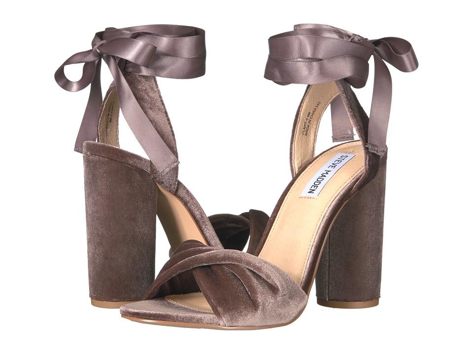 Steve Madden - Clary-V (Taupe Velvet) Women's Shoes
