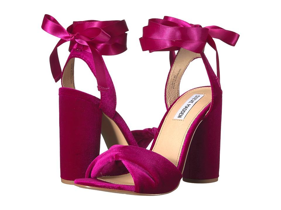 Steve Madden - Clary-V (Magenta Velvet) Women's Shoes