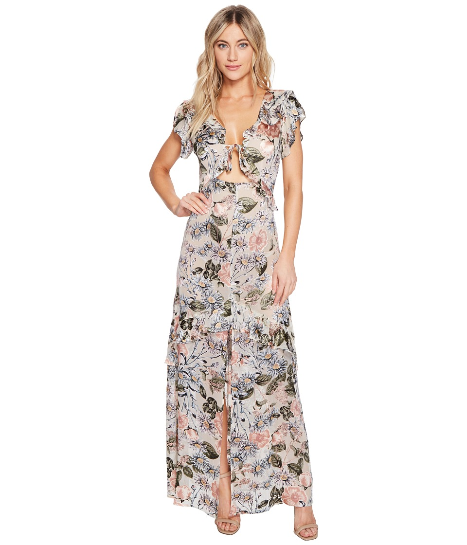 For Love and Lemons - Luciana Maxi Dress (Ivory Floral) Women's Dress