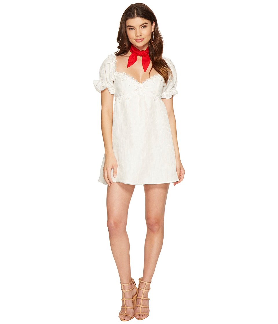 For Love and Lemons - Crema Babydoll Dress (White) Women's Dress