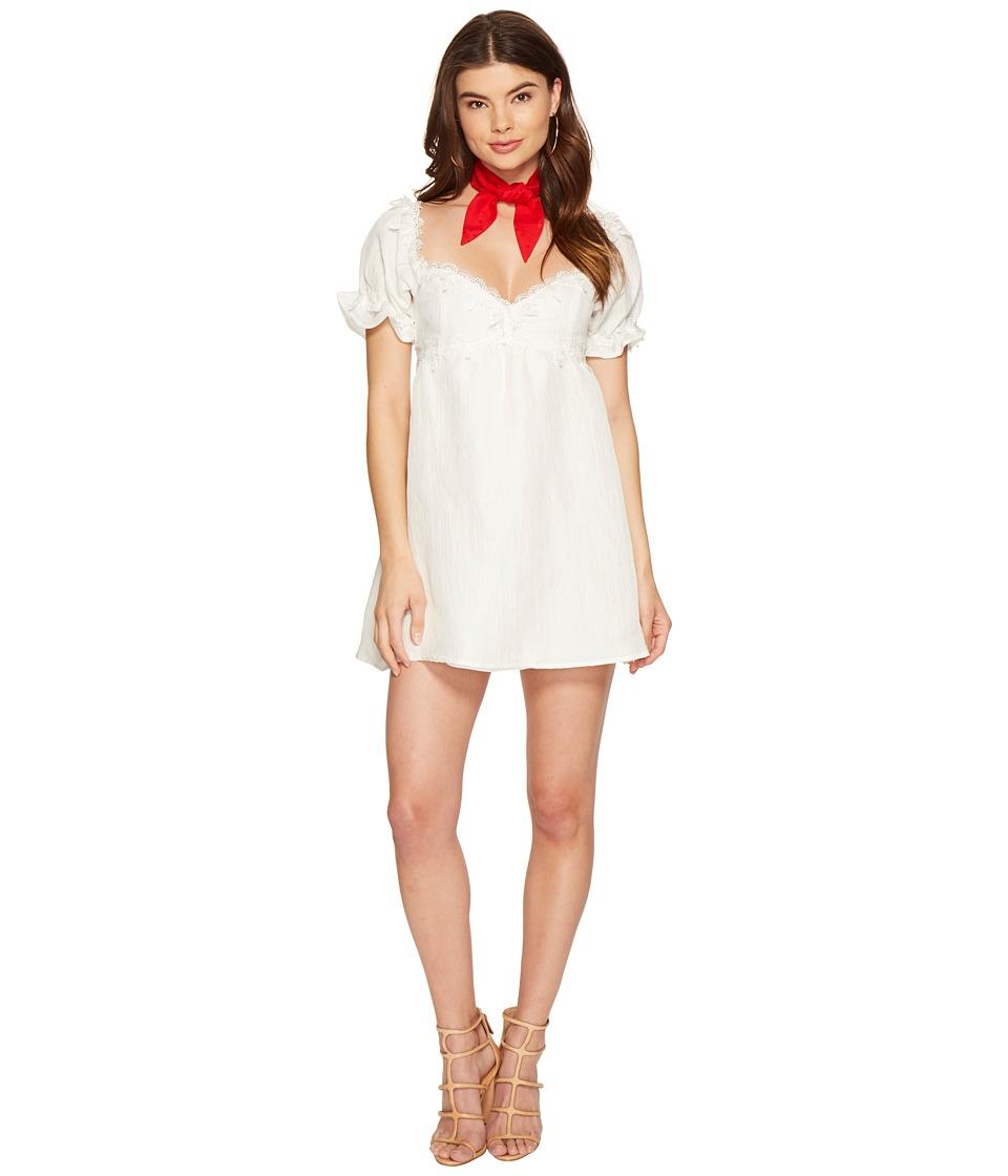 For Love and Lemons - Crema Babydoll Dress (White) Women's Dress