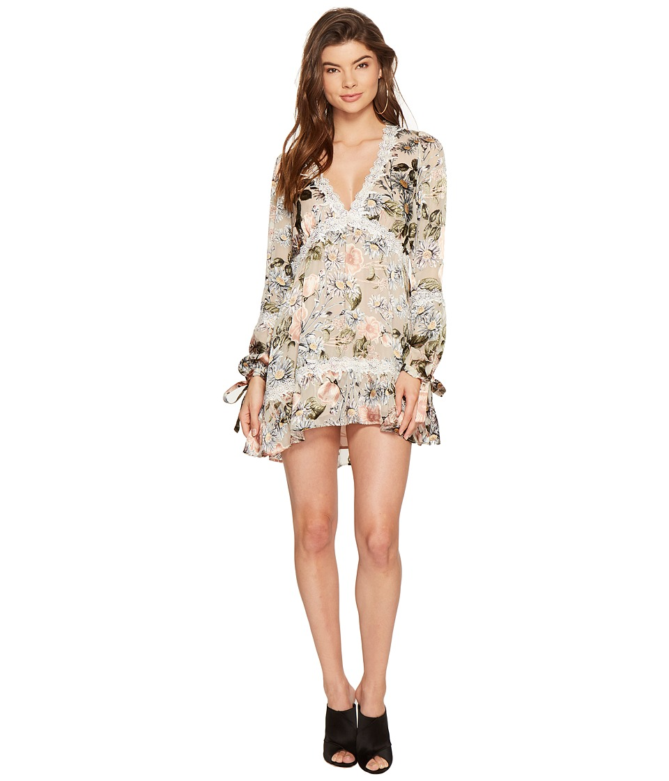 For Love and Lemons - Luciana Swing Dress (Ivory Floral) Women's Dress