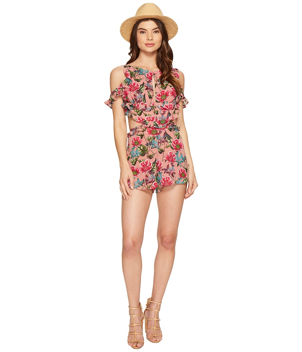 For Love and Lemons - Churro Romper (Pink Flamingo) Women's Jumpsuit & Rompers One Piece