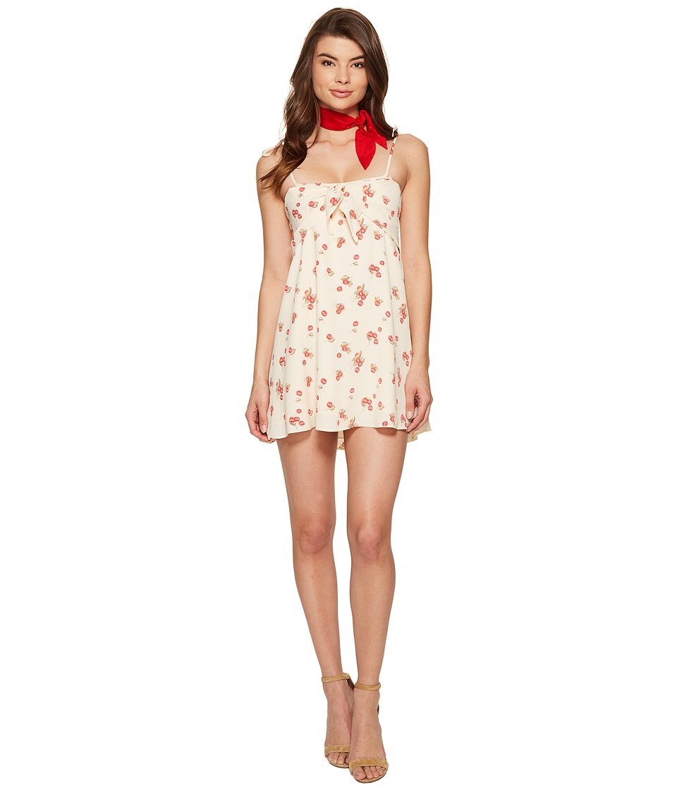 For Love and Lemons Cherry Tank Dress (Creme Cherry) Women