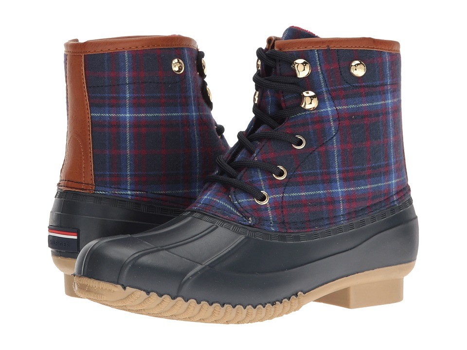 Tommy Hilfiger - Retina3 (Marine/Blue Multi/Light Chestnut) Women's Shoes