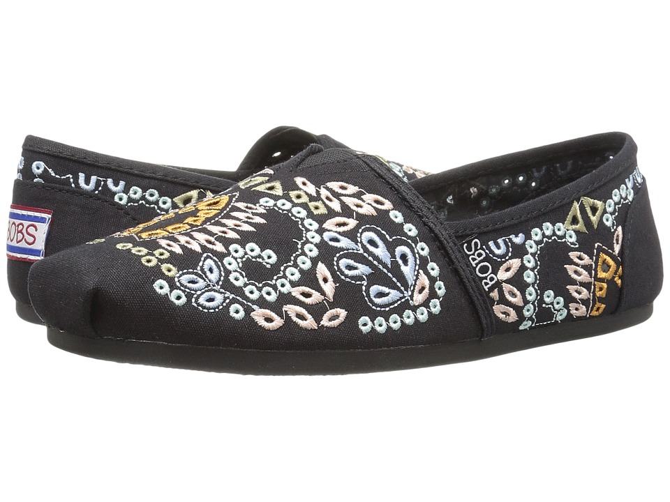 BOBS from SKECHERS - Bobs Plush - Candy Coated (Black/Multi) Women's Shoes