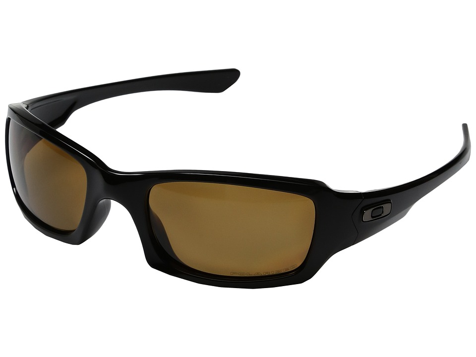 Oakley - MPH Fives Squared Polarized (Polished Black w/ Bronze) Sport Sunglasses