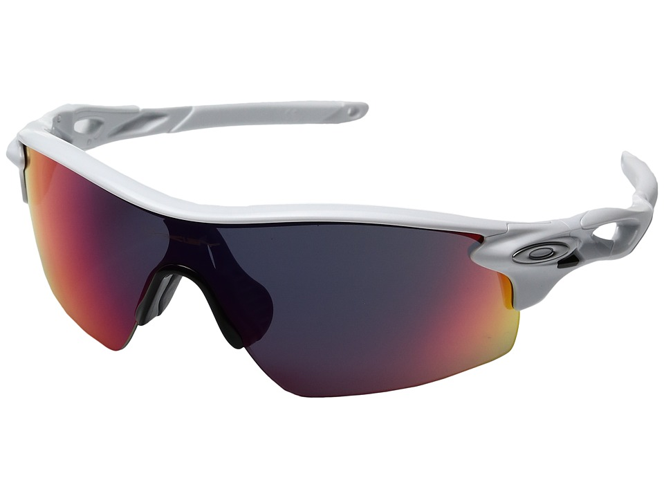 Oakley - MPH Radarlock Pitch (Polished White w/ Red) Sport Sunglasses