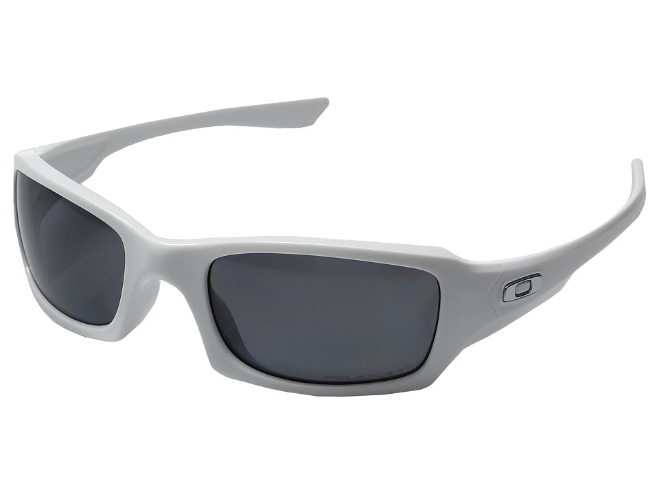 Oakley - MPH Fives Squared Polarized (Polished White w/ Grey) Sport Sunglasses