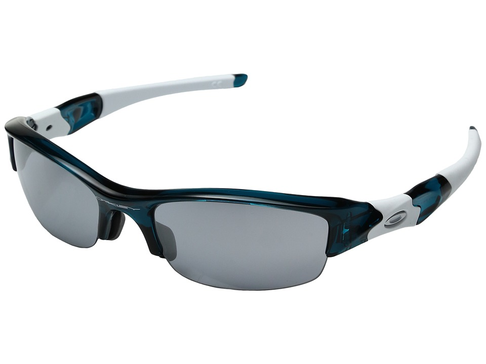 Oakley - Flak Jacket Asian Fit (Crystal Turquoise w/ Slate Irridium) Sport Sunglasses