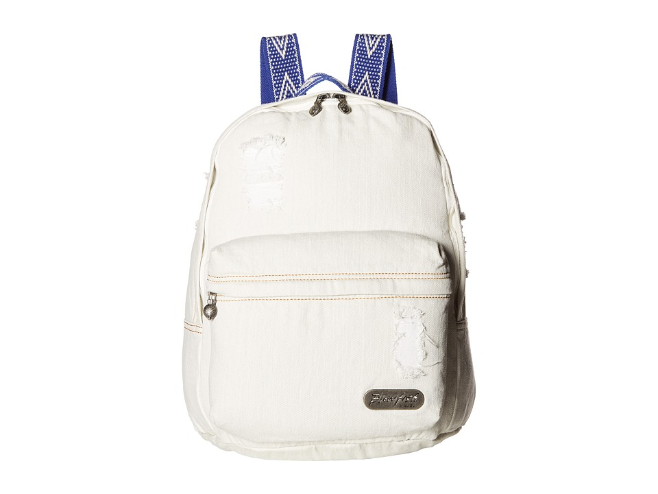 Blowfish - Zuma Beach (Stonewashed White Denim) Backpack Bags