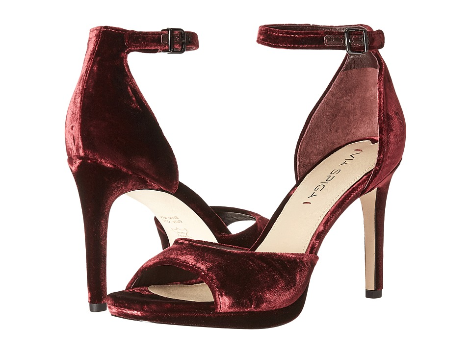 Via Spiga Salina3 (Bordeaux Velvet) High Heels