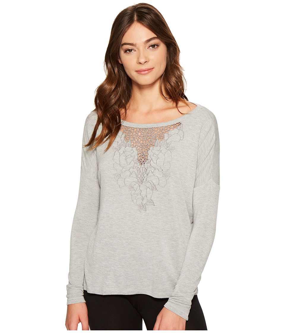 P.J. Salvage - Laser Lounge Sweatshirt (Heather Grey) Women's Sweatshirt