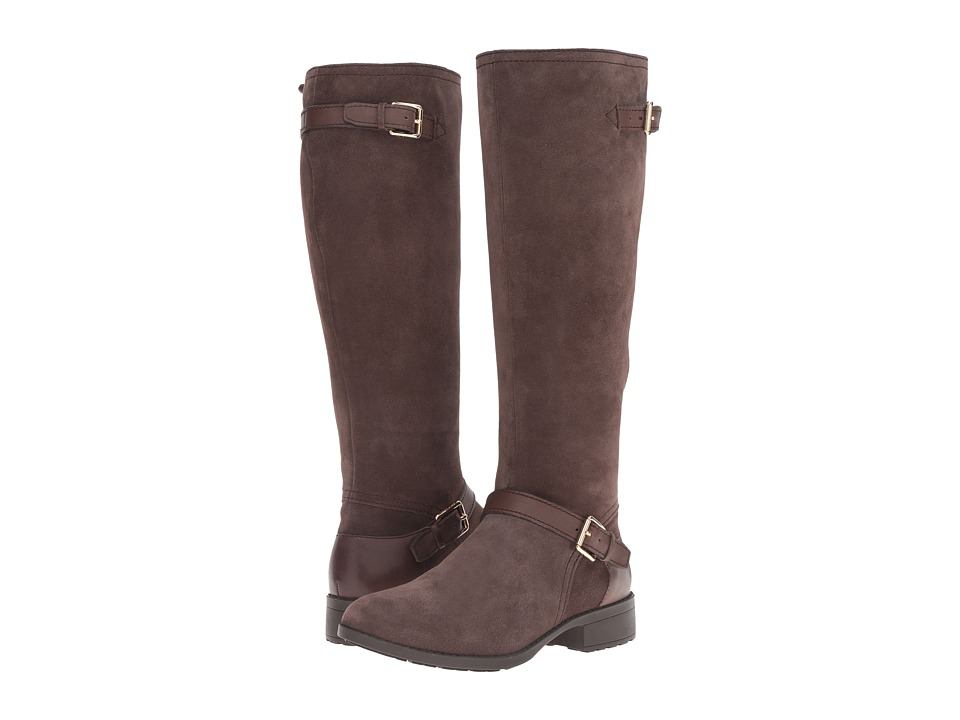 Cole Haan Marla Waterproof Boot (Dark Taupe Suede/Dark Taupe Leather) Women