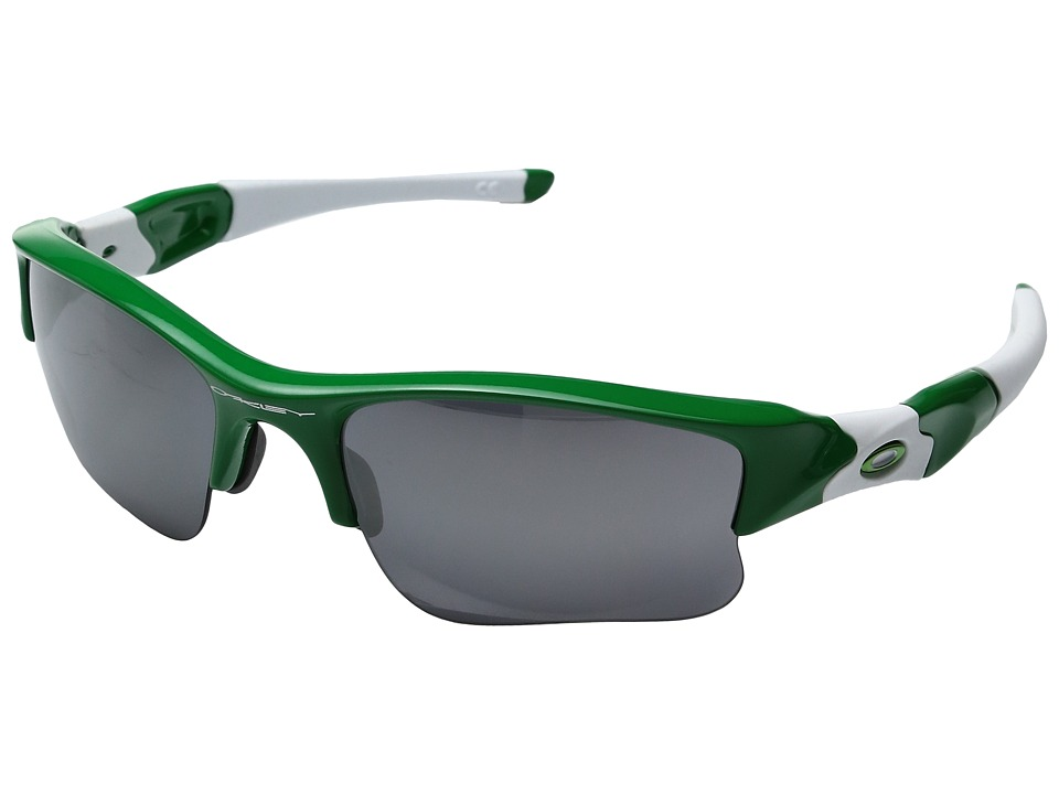 Oakley - MPH Flak Jacket XLJ (Team Bright Green w/ Black Irridium) Sport Sunglasses