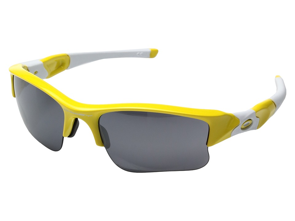 Oakley - MPH Flak Jacket XLJ (Team Yellow w/ Black Irridium) Sport Sunglasses
