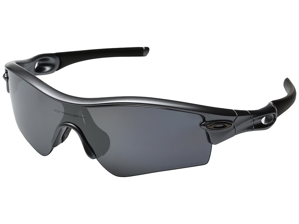 Oakley - MPH Radar Path Polarized Asian Fit (Dark Grey w/ Black Irridium) Sport Sunglasses