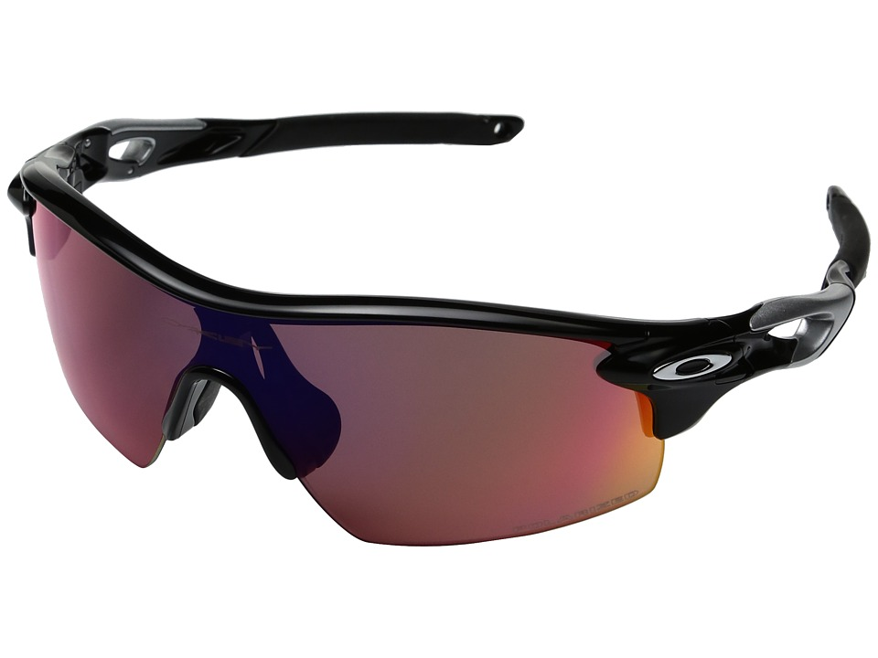 Oakley - MPH Radarlock Pitch Polarized (Polished Black w/ Red) Sport Sunglasses