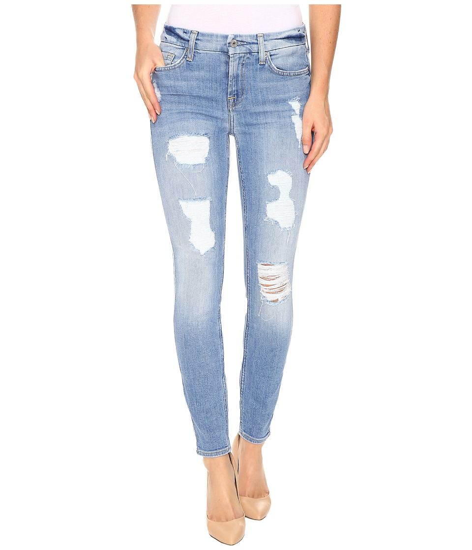 7 For All Mankind - The Ankle Skinny with Destroy in Light Wash (Light Wash) Women's Jeans