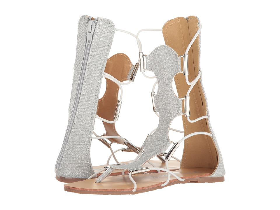 kensie girl Kids - Bungee Gladiator Sandal (Little Kid/Big Kid) (Silver) Girls Shoes