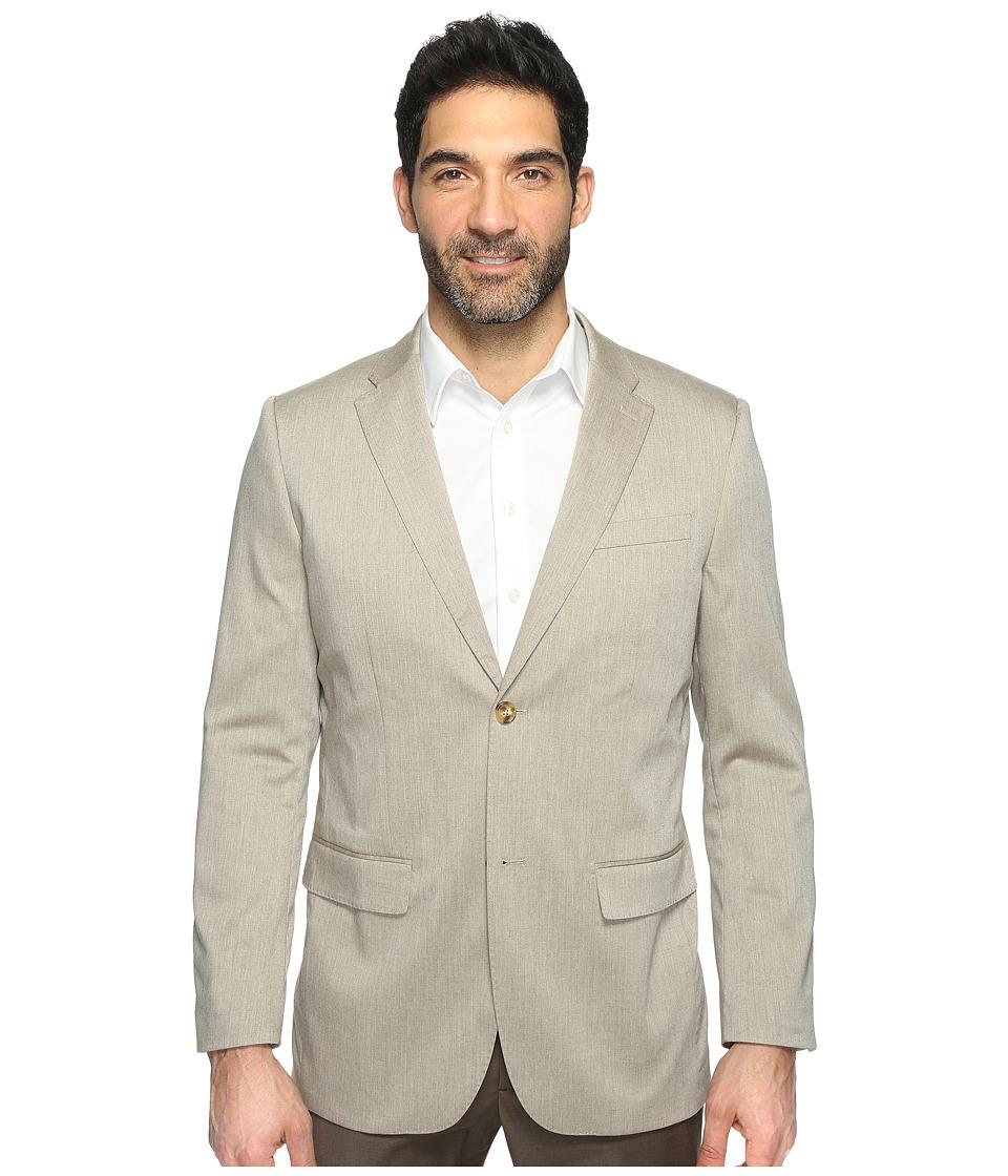 Perry Ellis - Regular Fit Stretch Heather Twill Suit Jacket (Natural Linen) Men's Coat