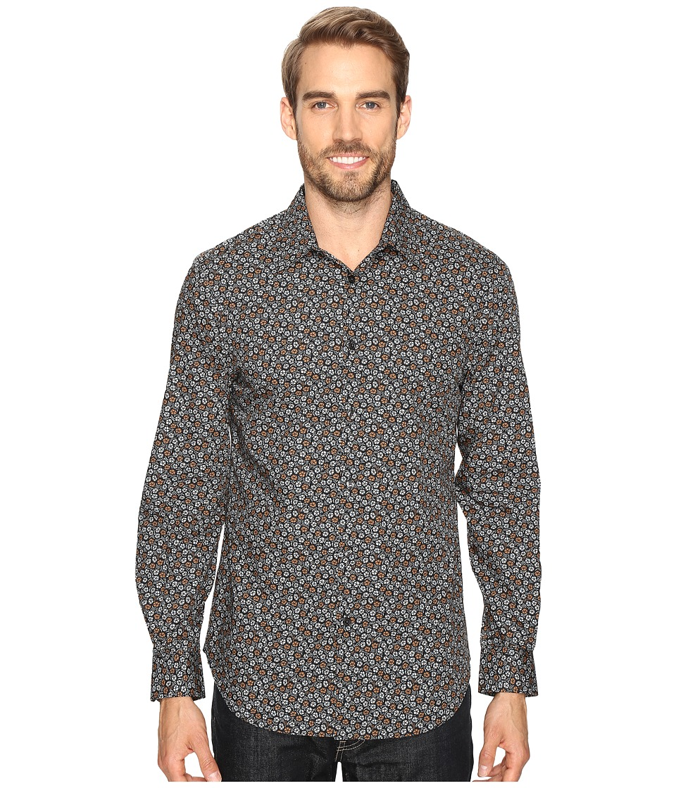 Perry Ellis - Stormy Floral Shirt (Silver Mine) Men's Clothing