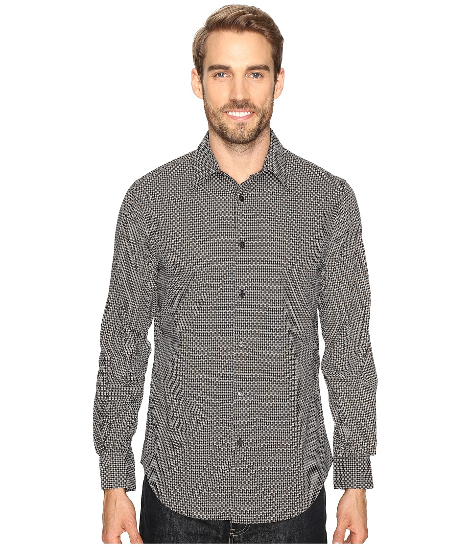 Perry Ellis - Printed Geometric Circle Shirt (Black) Men's Clothing
