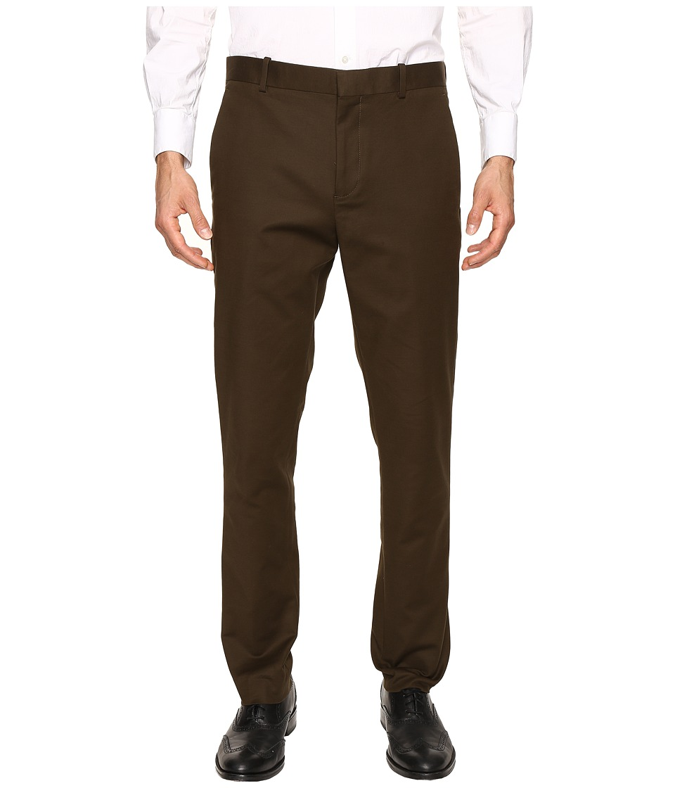 Perry Ellis - Slim Fit Stretch Solid Sateen Dress Pants (Forest Pine) Men's Dress Pants
