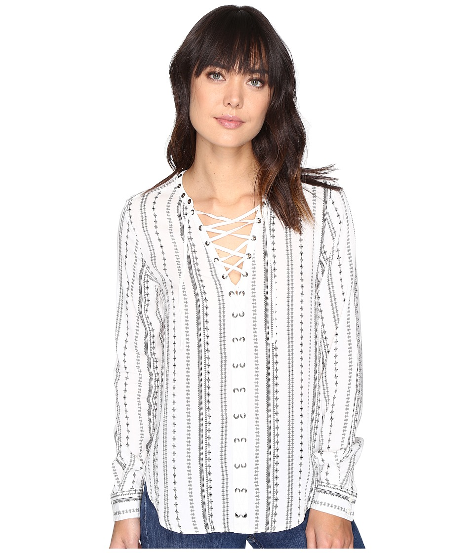Paige - Kellyn Blouse (White/Black) Women's Blouse