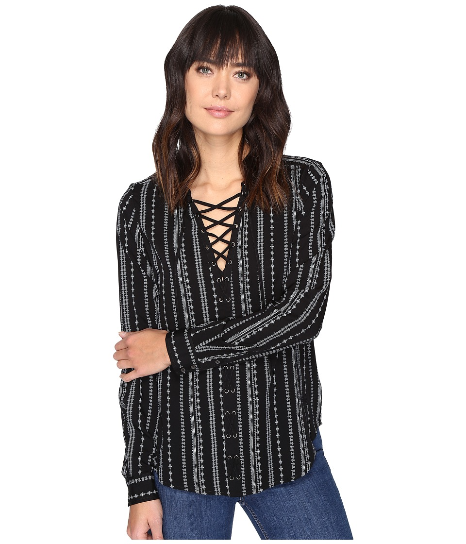 Paige - Kellyn Blouse (Black/White) Women's Blouse
