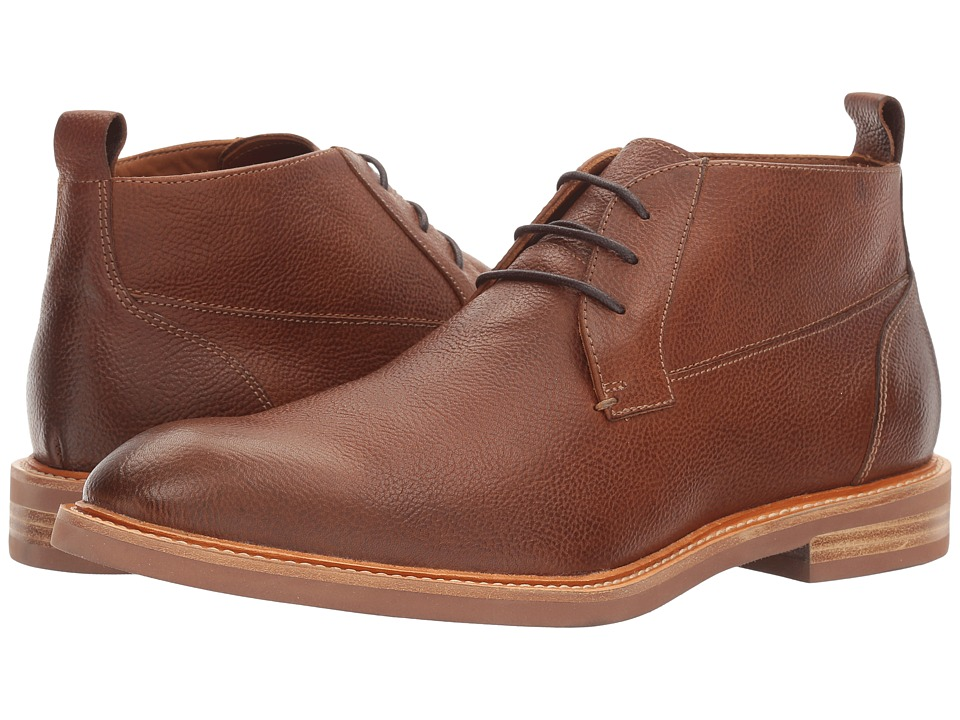 Gordon Rush - Dawson (Dark Tan Pebbled) Men's Lace-up Boots