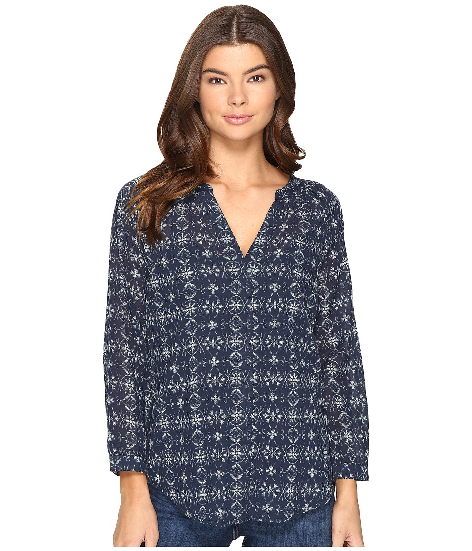 Paige Sammy Top (Dark Ink Blue/Mineral Grey) Women's Blouse