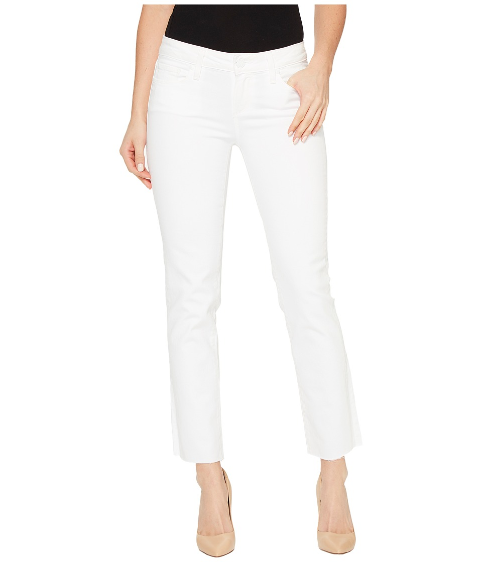 Paige - Miki Straight with Raw Hem in Optic White (Optic White) Women's Jeans