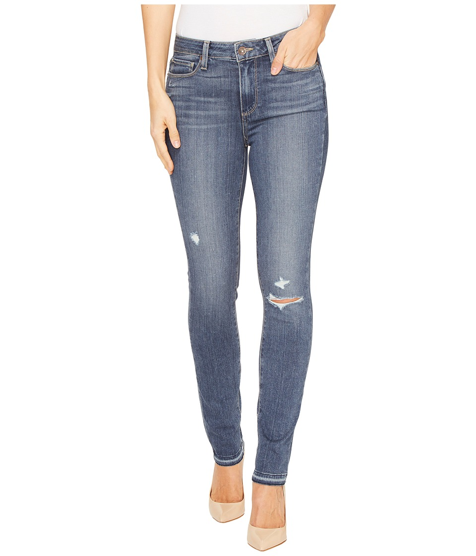 Paige - Hoxton Ankle Peg w/ Folded Undone Hem in Lexi Destructed (Lexi Destructed) Women's Jeans