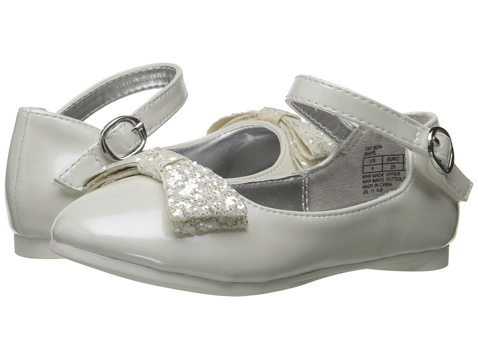 Kenneth Cole Reaction Kids - Tap Bow (Toddler) (White) Girl's Shoes