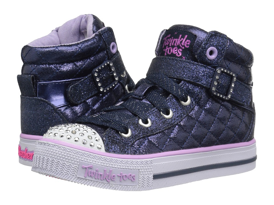 SKECHERS KIDS - Sweetheart Sole (Little Kid/Big Kid) (Navy/Lavendar) Girl's Shoes