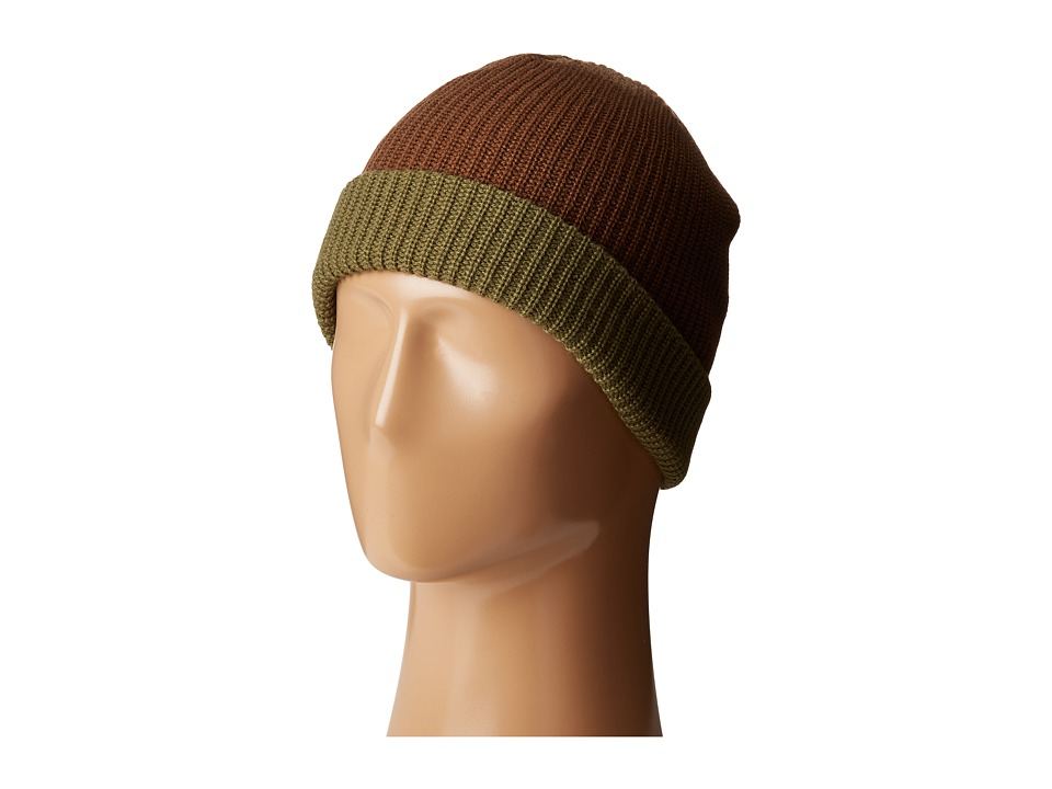 Volcom - Two-Tone Sweep Beanie (Teak) Beanies