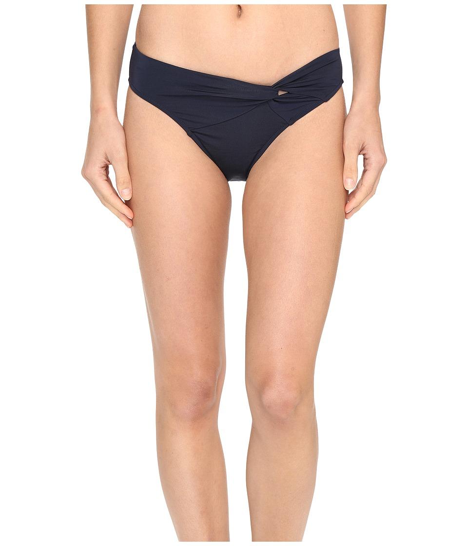 JETS by Jessika Allen - Jetset Asymmetrical Twist Front Bikini Bottom (Ink) Women's Swimwear