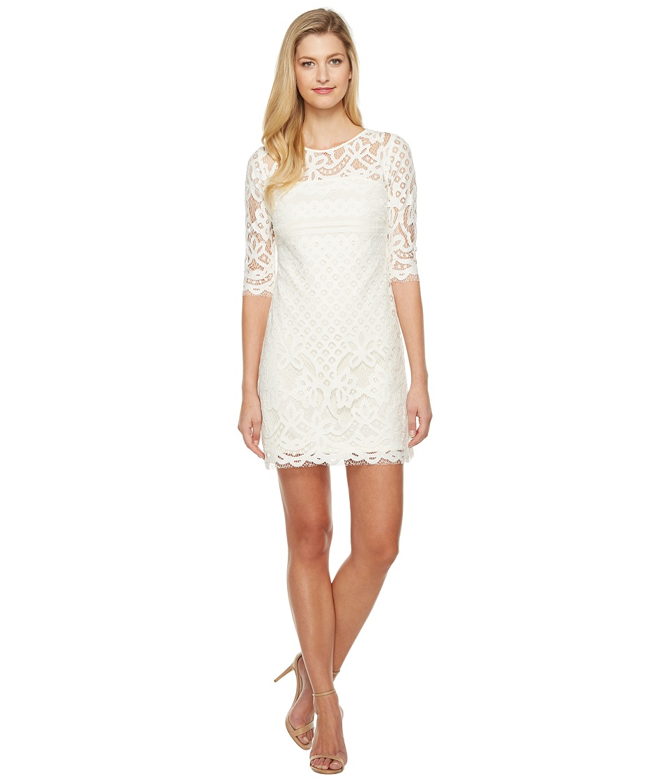 Taylor - Lace Dress (Cream) Women's Dress