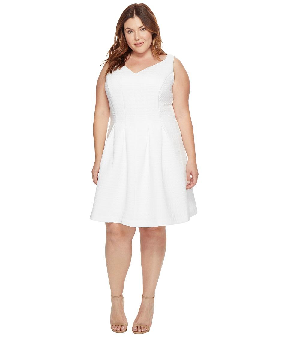 Taylor - Jacquard Dress (White) Women's Dress